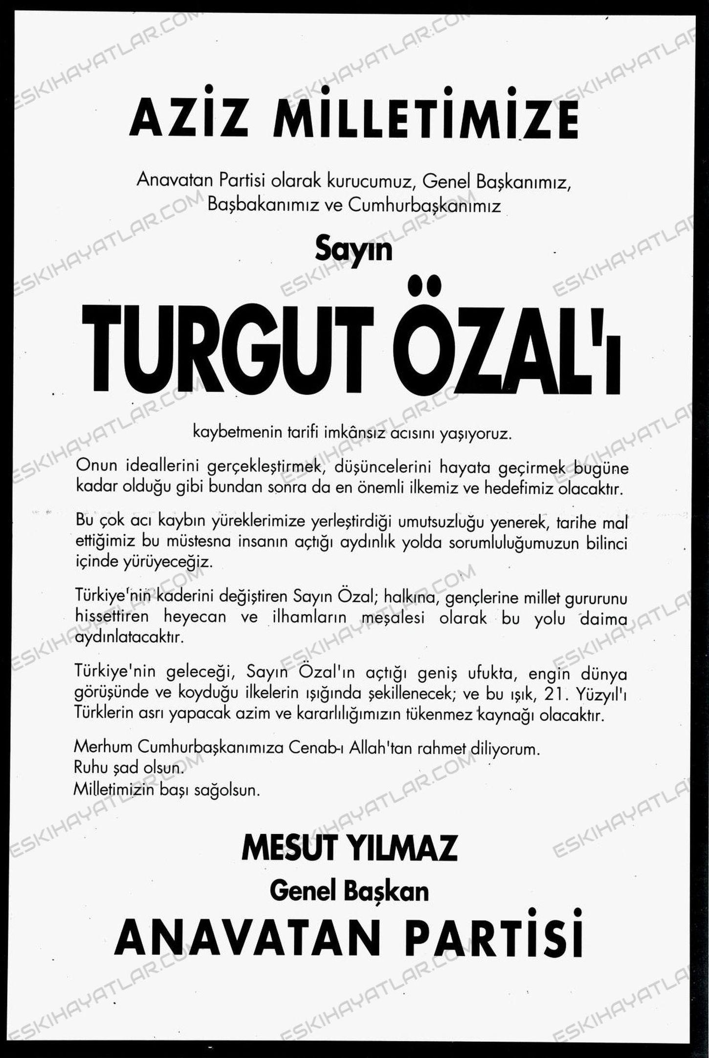 turgut-ozal-fotograflari-1993-yili-turgut-ozal-vefat-ilanlari-turgut-ozal-olum-haberleri (9)