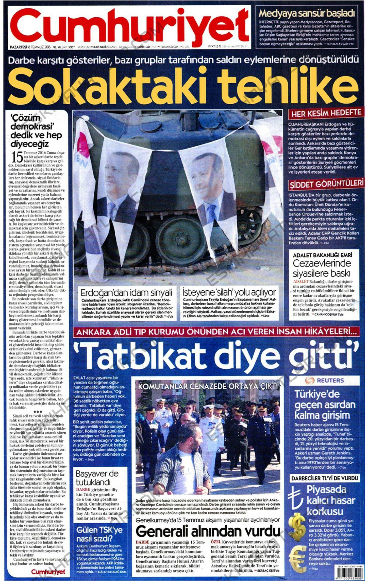 15-temmuz-2016-darbe-tesebbusu-gazete-arsivleri (cumhuriyet)