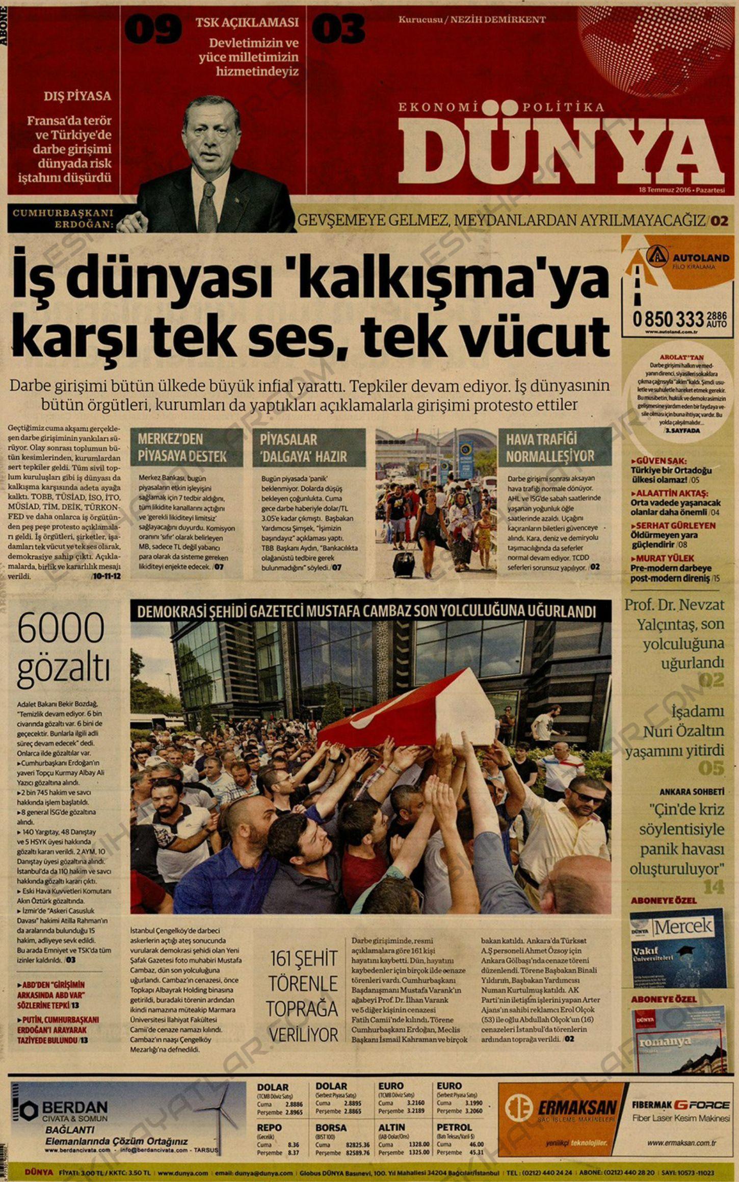 15-temmuz-2016-darbe-tesebbusu-gazete-arsivleri (dunya)