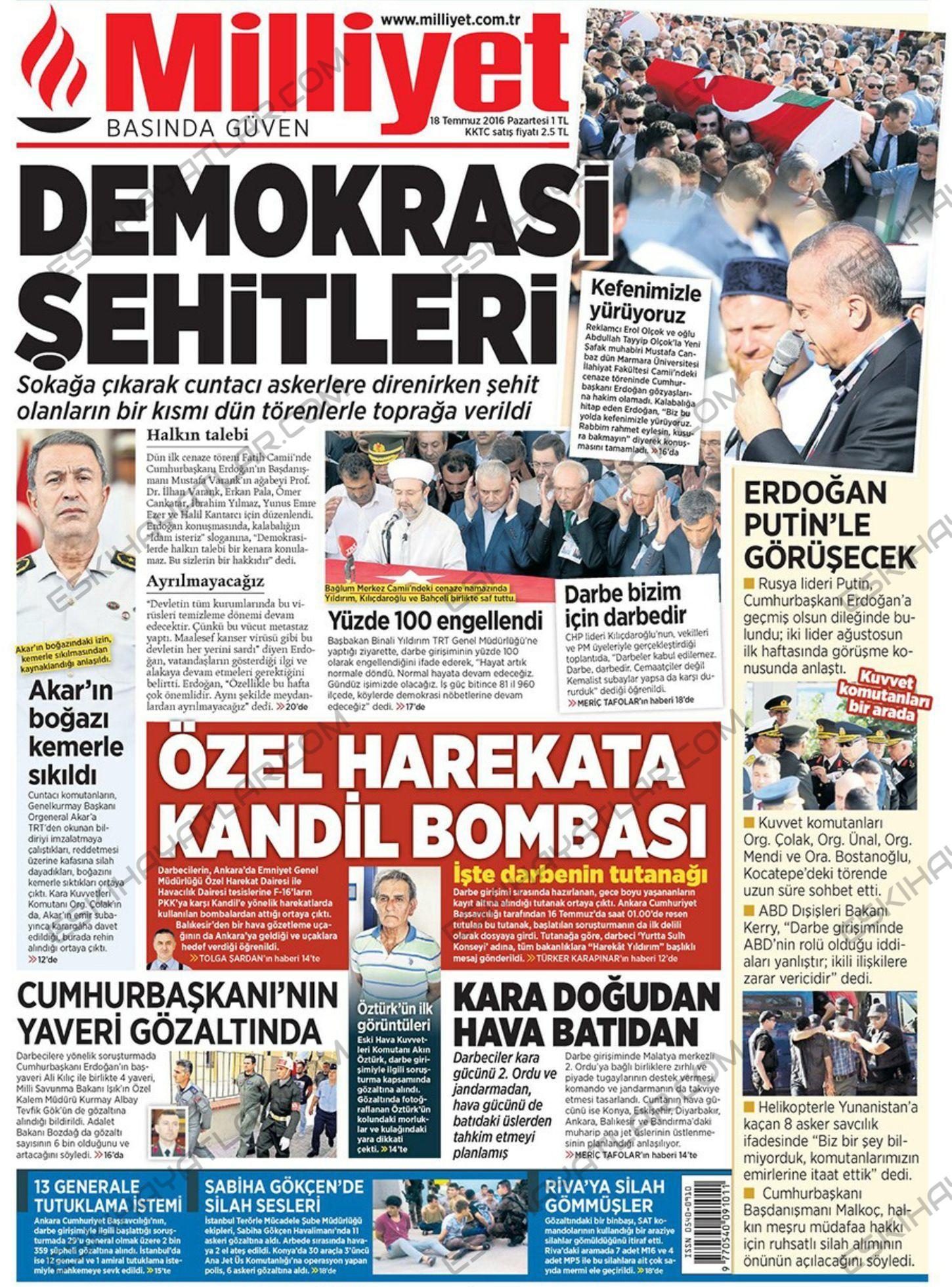 15-temmuz-2016-darbe-tesebbusu-gazete-arsivleri (milliyet)