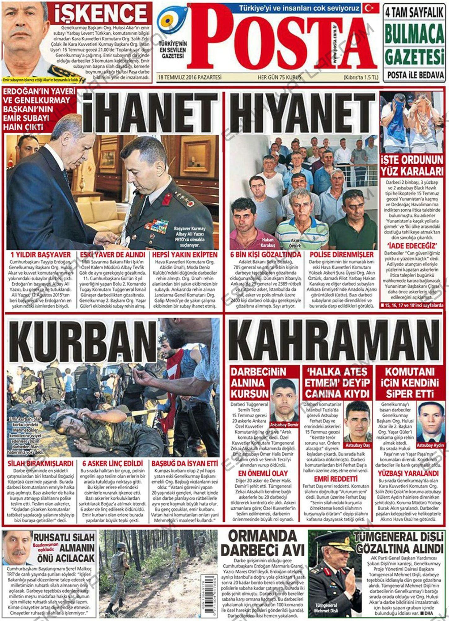 15-temmuz-2016-darbe-tesebbusu-gazete-arsivleri (posta)