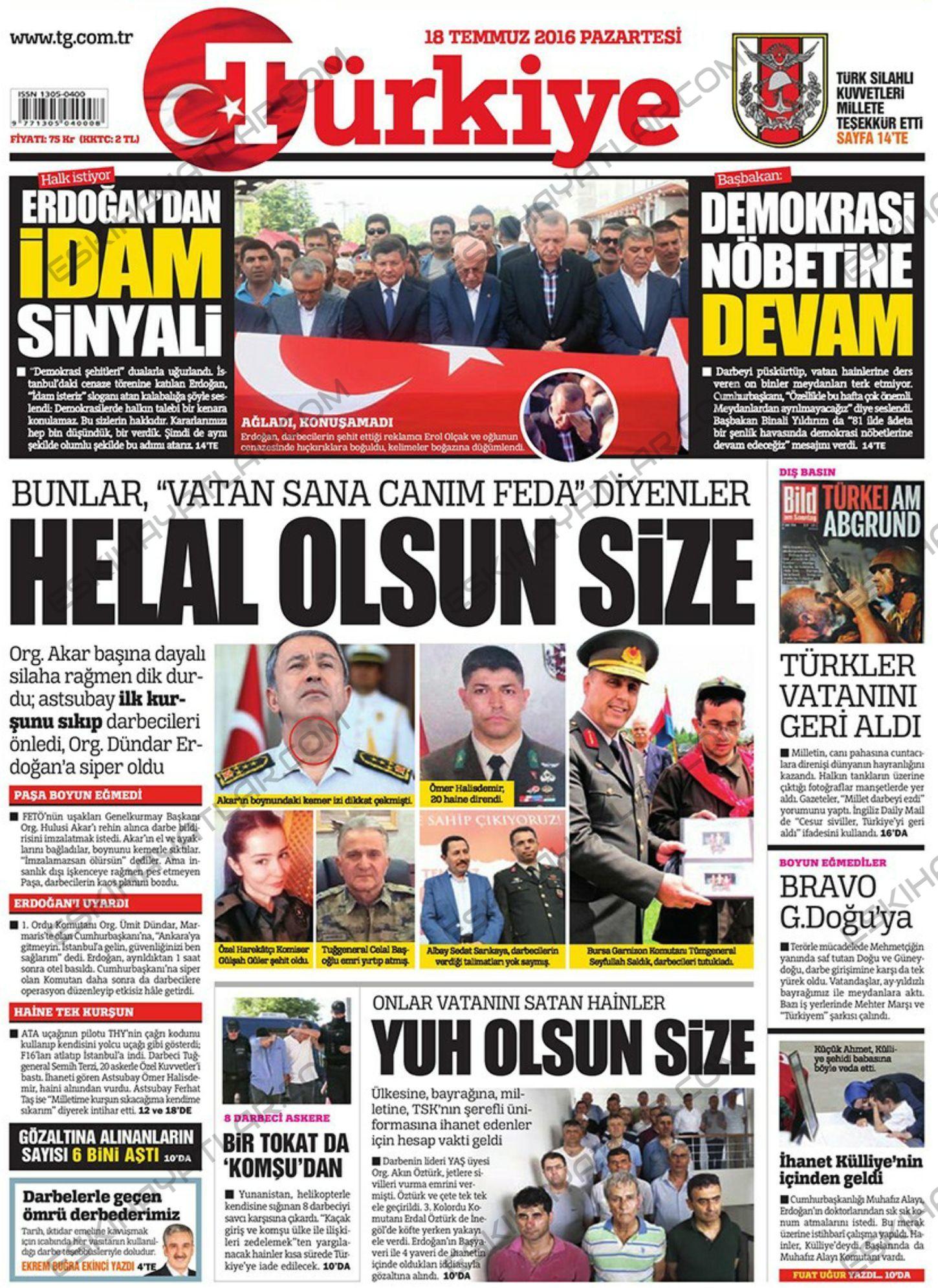 15-temmuz-2016-darbe-tesebbusu-gazete-arsivleri (turkiye)