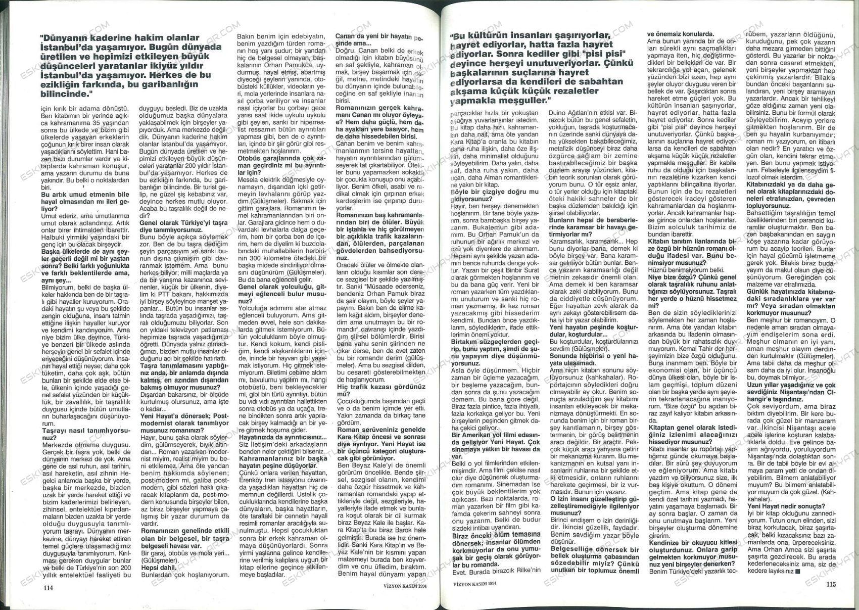 0211-orhan-pamuk-yeni-hayat-ilk-baskisi-1994-vizyon-dergisi (2)