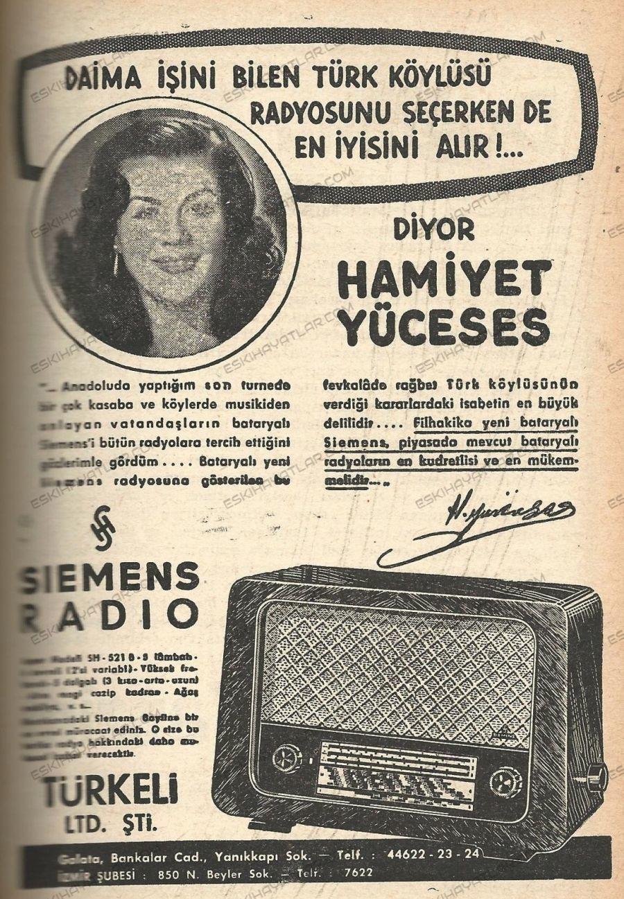0153-hamiyet-yuceses-siemens-radyo-reklami-1952-radyo-haftasi-dergisi