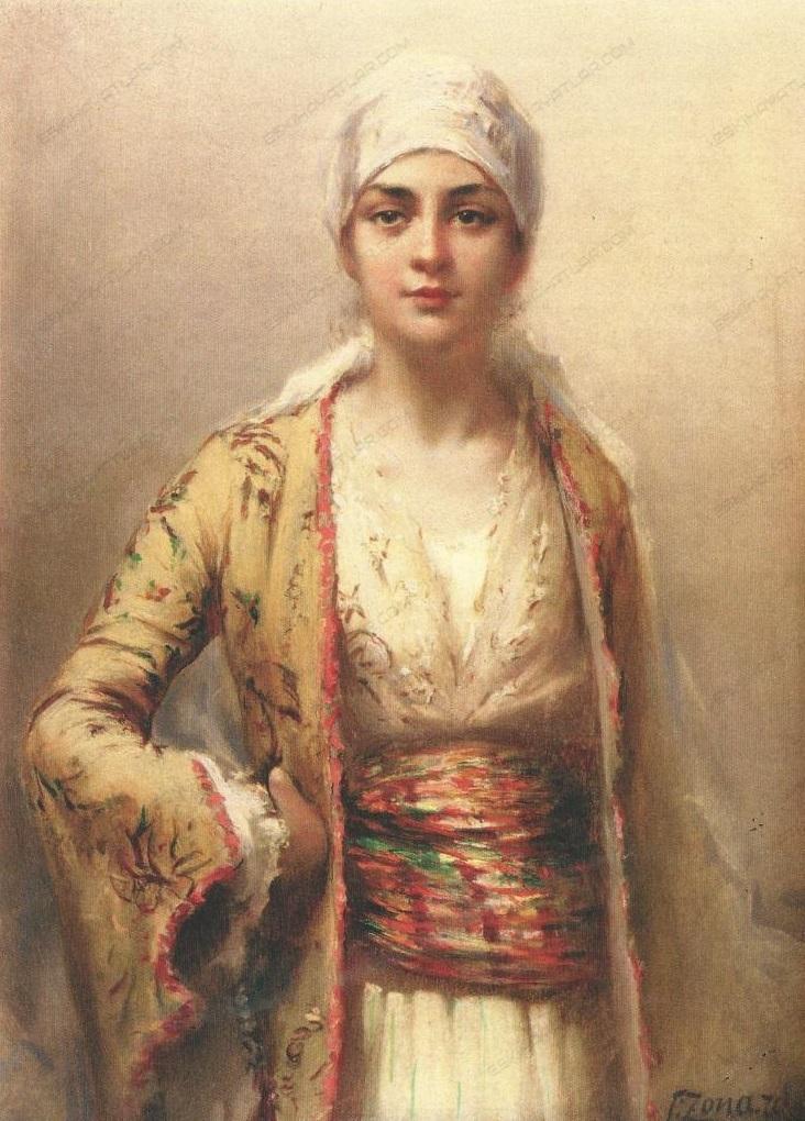 0354-fausto-zonaro-odalik-cariye-yagliboya-tablosu