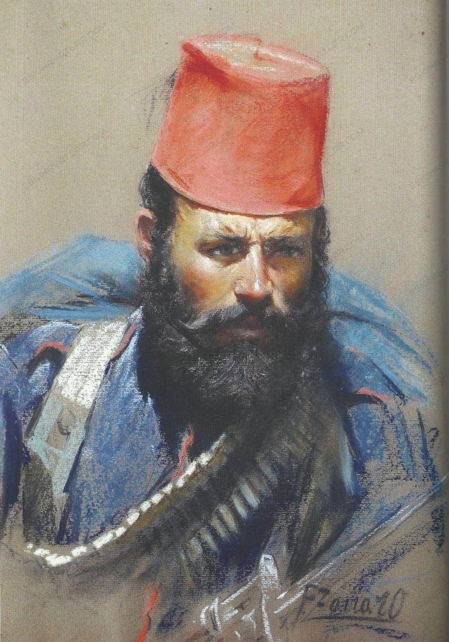 0354-fausto-zonaro-yagli-boya-tablo-hucum-sirasindaki-er