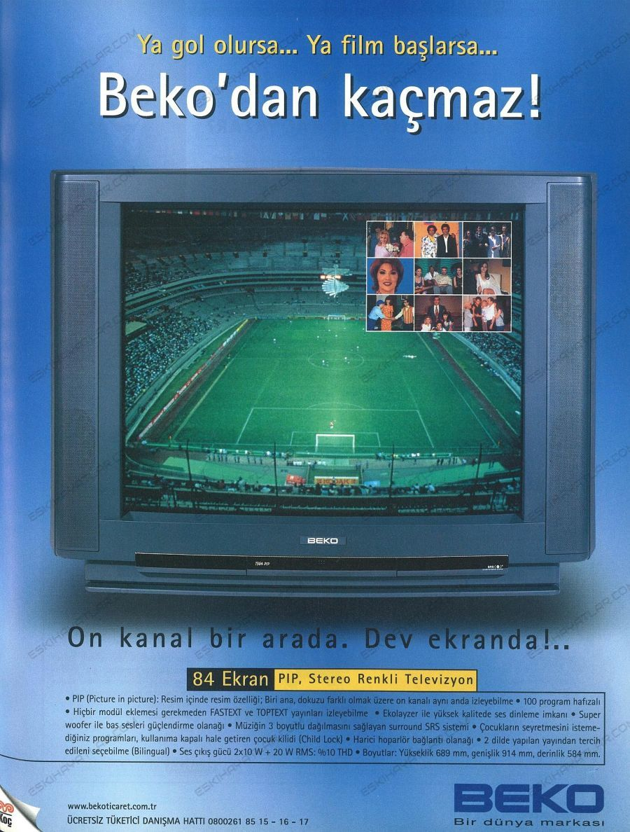 0275-beko-84-ekran-tuplu-televizyon-1998-pip-teknolojisi-cocuk-kilidi-doksanlarda-televizyon-markalari