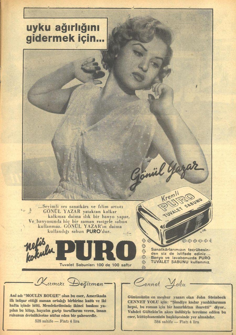 0275-gonul-yazar-1954-puro-tuvalet-sabun-reklamlari