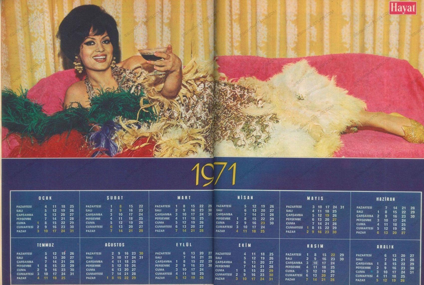 0181-turkan-soray-1971-takvimi-hayat-dergisi-1