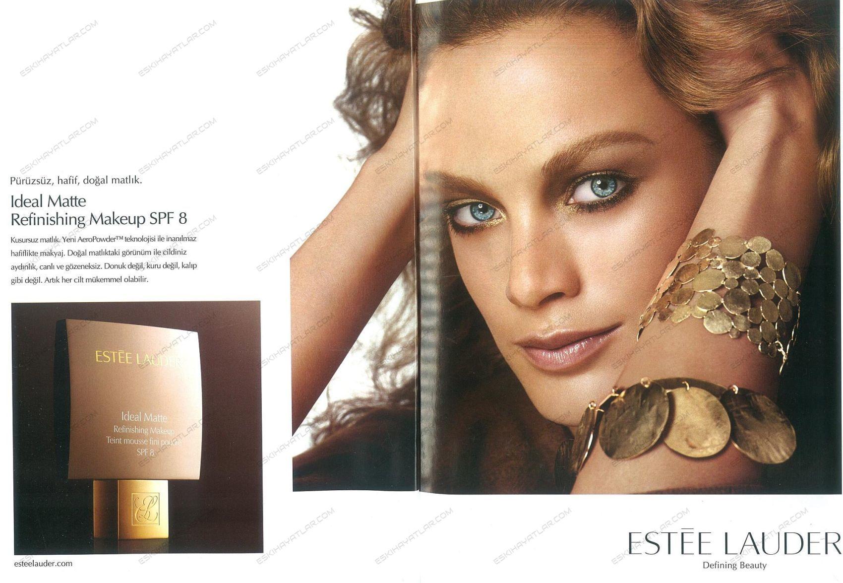 0244-estee-lauder-2004-ideal-matte-refinishing-makeup-spf8-reklami-artik-her-cilt-mukemmel-olabilir